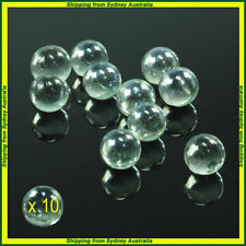 10 CLEAR  SMALL ,PLAYING MARBLES , natural glass colour , glass marbles