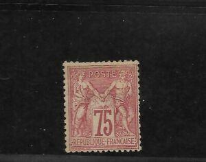 France Scott #75 mint hinged og, 75c carm rose Peace and Commerce issue 1876