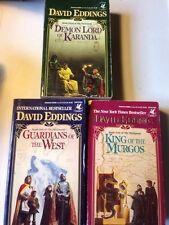 DAVID EDDINGS 1st 3 Malloreon DEMON LORD KING OF MURGOS GUARDIANS OF WEST