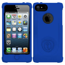 Trident Perseus Blue SoftSkin Cover Silicone Case Screen Protector for iPhone5