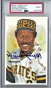WILLIE STARGELL PSA/DNA SIGNED PEREZ STEELE POSTCARD AUTOGRAPH PSA 9 MINT