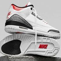 Nike Air Jordan 3 Retro SE III AJ3 White Cement Denim Fire Red Men Women Pick 1