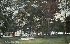 Newark Ohio~The Park~Water Fountain~Drug Store Medicines BB~1910 Postcard