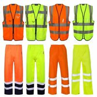 Hi Vis Viz Executive High Visibility Waistcoat Mens Trouser