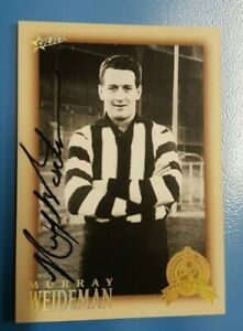 MURRAY WEIDEMAN HAND SIGNED COLLINGWOOD SELECT 2012 HALL OF FAME CARD