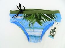 MENS SIZE MED RUFSKIN SWIM PANTS TRUNKS COCONUT PALM SPANDEX NEW W TAGS GAY INT?