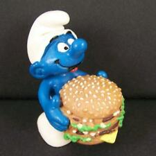 Rare 1996 European McDonalds Smurf Big Mac Hamburger PVC Figure Baker Toy Burger