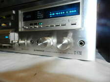 Vintage Pioneer CT-F750 Stereo Cassette Tape Player Powers On But Parts/Repair