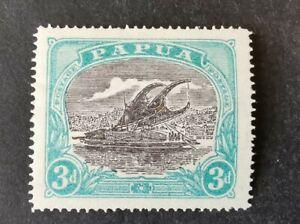 Papua 1916-31  3d black /green Mint Hinged AFj1