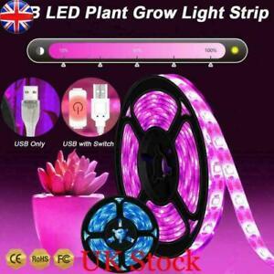 30-180LEDs 5V USB LED Grow Light Strip Full Spectrum Waterproof For Fruit Flower