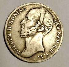 1 Gulden Silbermünze, 1848 Niederlande Wilhelm II., 1840-49, Löwe, Krone,