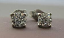 Nuevo 1/4 Cuarto De Quilate .25ct Diamante 18ct Oro Blanco Pendientes con Pasador