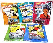 RARE 5 Car SET Hot Wheels Pop Culture Star Trek Captain Kirk McCoy Sulu Uhura
