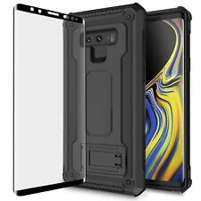 Samsung Galaxy Note 9 Tough Case with Screen Protector Tempered Glass
