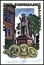 Leonenko Vasyl 1997 Exlibris X3 Numismatics Coins Munzen Architecture Sanok 824x