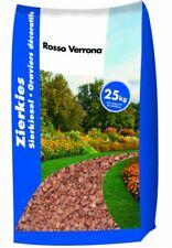 (0,56€/1kg) 1x 25kg Sack Marmorkies Rosso Verona 40-60 mm Sand Dekorsplitt Split