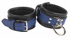 """Ankle Restraints Shades of Blue Genuine Leather  """"NEW"""""""