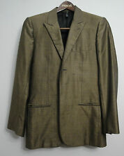 Mens Christian DIOR HOMME Blazer Jacket 46 Made in Italy Wool/Silk Bronze Peak