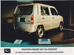 DAIHATSU NAKED (XO 70) CONCEPT CAR ?1997 PRESS PHOTO   ***POST FREE UK ***