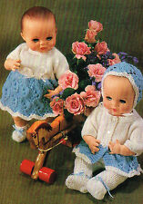 "Dolls clothes knitting pattern for 12"" baby doll.  Laminated copy. (V Doll 99)"
