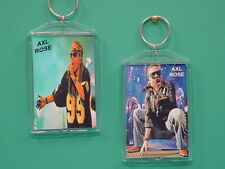 AXL ROSE - Guns N' Roses - with 2 Photos - Designer Collectible GIFT Keychain
