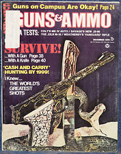 Magazine GUNS & AMMO December 1970 !!! SAVAGE Model 110-C .25-06 RIFLE !!!
