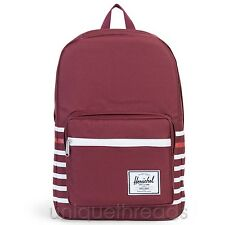 HERSCHEL SUPPLY CO. Windsor Wine Offset Stripe POP QUIZ BACKPACK