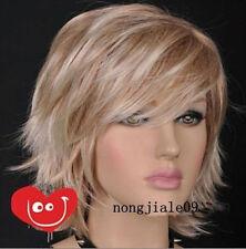 NEW313 lovely short straight blonde hair wig wigs for modern health women