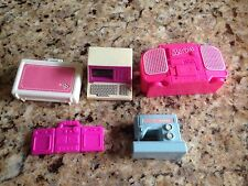 Mixed Lot Vintage Sewing Machine Boom Box Computer Barbie Wind Up Accessories