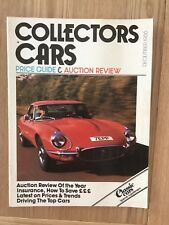 COLLECTORS CARS DECEMBER 1988-PRICE GUIDE & AUCTION REVIEW - CLASSIC CARS SUPP