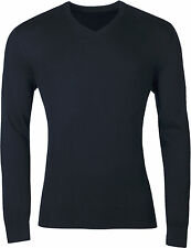 New Mens Marks & Spencer V Neck Jumper Pullover Sweater Top Casual Knitwear Soft