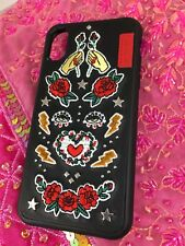 SKINARMA iphone X/XS case, Made in TPU/PU Leather with Embroidery and Studs BNIB