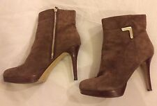 Bottines CUIR NINE WEST t. 9 M (US) = 41 fr Marron talon 11 cm co NEUVES