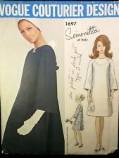 Vogue Couturier Design Pattern 1697 Simonetta of Italy Size 12