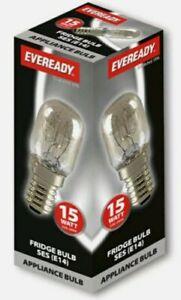 10 x Eveready Fridge/oven/cooker Appliance Lamp Bulb 15W 240V SES Base (E14)