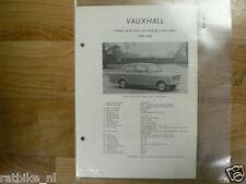 VA17-VAUXHALL TYPE VIVA HAS EN VIVA DE LUXE HAD 1963-64