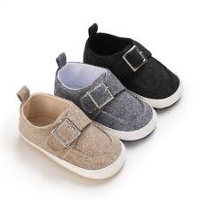 Newborn Baby Boy Pram Shoes Infant Toddler Comfortable PreWalker Trainers 0-18 M