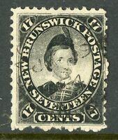 Canada 1860 New Brunswick 17 Cent Scott #11 VFU D355