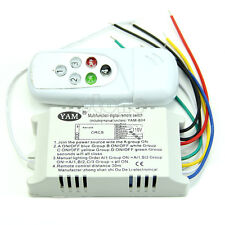 4 Ways Remote Control ON/OFF 110V Switch Digital Controller For Light Lamp