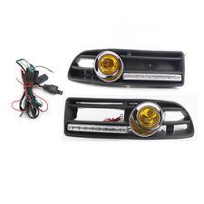 Auto GRILLE Halogen FOG LIGHT Fit FOR VW JETTA BORA 99-04 LED DRL Yellow Light