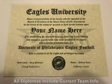 Philadelphia Eagles NFL #1 Fan Certificate Man Cave Diploma Perfect Gift