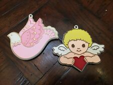 Vintage Hallmark Painted Cookie Cutters - Dove and Cupid