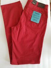 New Brax Cooper Fancy Pants Marathon 35 x 36 Cotton Blend Stretch Red
