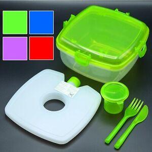 Salat To Go Lunchbox-Set Inkl. Kühlakku   Salatcup Vesperbox Brotdose Frischebox