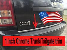 "For Alfa Romeo 2013-2019 - 1""Wide Chrome Tailgate Trunk Molding Strip Trim Kit"