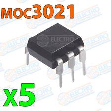 5x MOC3021 optoacoplador triac electronica pcb dip 6