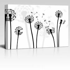 Wall26 - Black and White Style Dandelion - Canvas Art Home Decor - 12x18