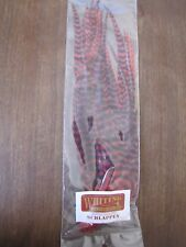 "Fly Tying-Whiting Schlappen Bundle 6-10"" Grizzly dyed Red"