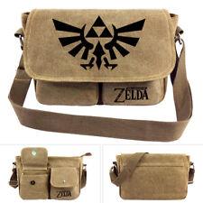 The Legend of  Zelda Winged Triforce Canvas Shoulder Messenger Bag Backpack Gift