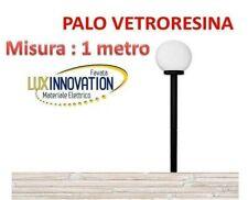 LAMPIONE LAMPIONCIN GLOBO DA GIARDINO 30cm KIT COMPLETO PALO E SFERA OPALE PZ 5
